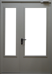 Дверь с армированным стеклом DMS05